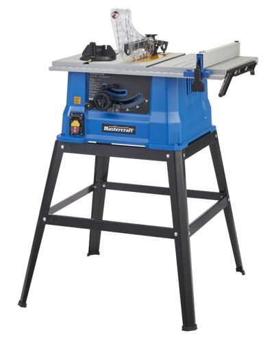 Mastercraft 15A Table Saw with Stand, 10-in Product image