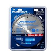 Mastercraft Carbide tipped Circular Saw Blades, 10-in, 2-pc