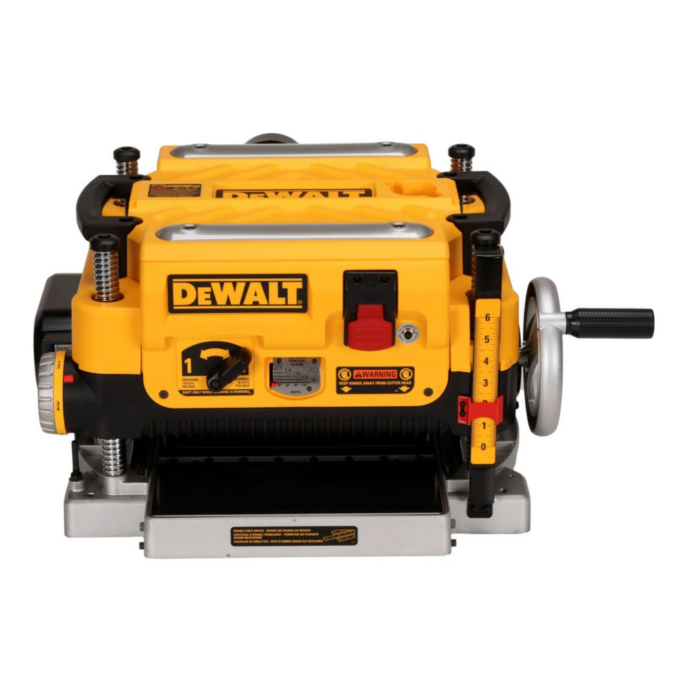 Dewalt DW735 13-in Three-Knife, Two Speed Thickness Planer, 15 Amp