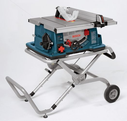Bosch Jobsite Table Saw with Stand, 10-in