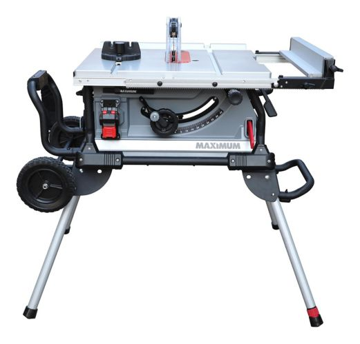 MAXIMUM 15A Jobsite Table Saw with Stand, 10-in