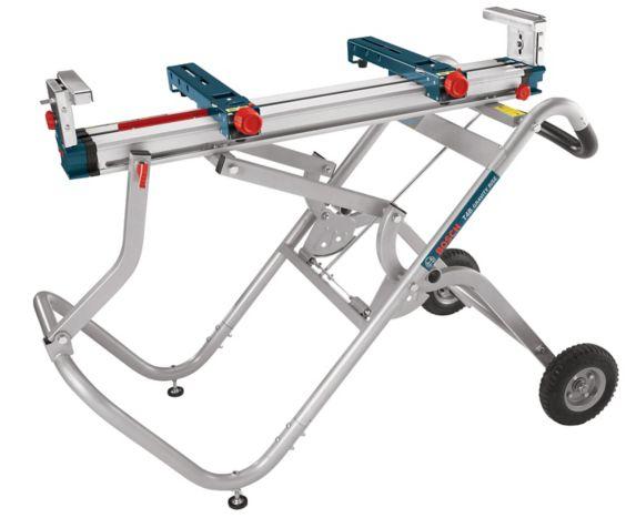 Support pour scie à onglets Bosch Gravity-Rise, à roues