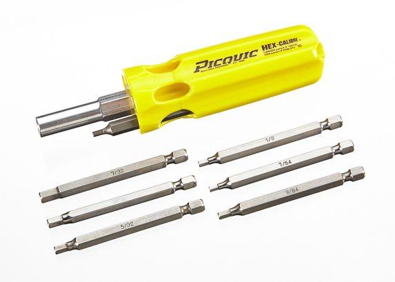 Picquic Hex Key Multi-Bit Screwdriver, SAE