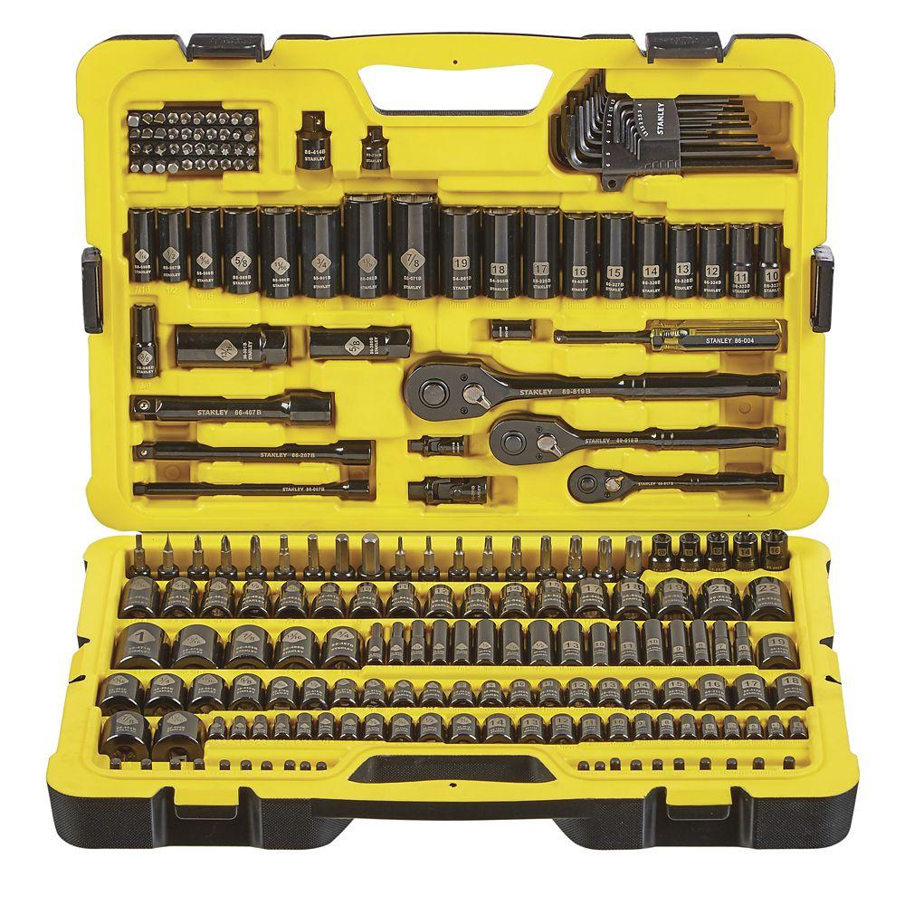 Stanley Professional Black Chrome Socket Set, 229-pc