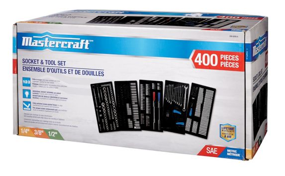 Mastercraft Socket Set, 400-pc