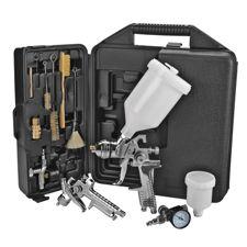 Hvlp Spray Gun Kit >> Mastercraft Hvlp Air Spray Gun Set 36 Pc