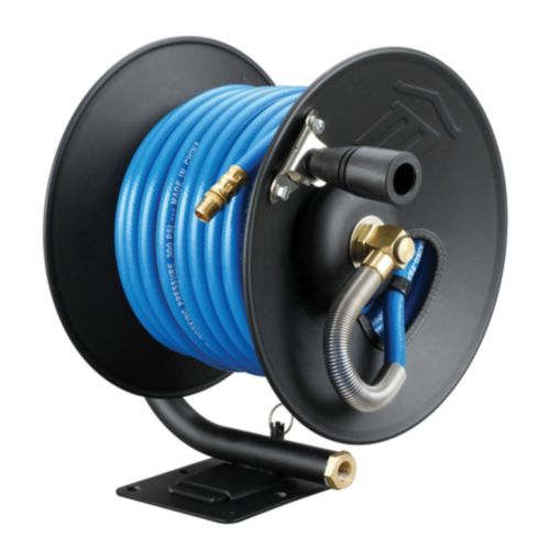 Mastercraft Air Hose with Manual Reel, 3/8-in