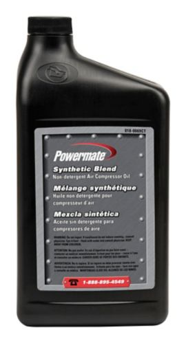 Powermate Synthetic Compressor Oil 32 Oz Canadian Tire