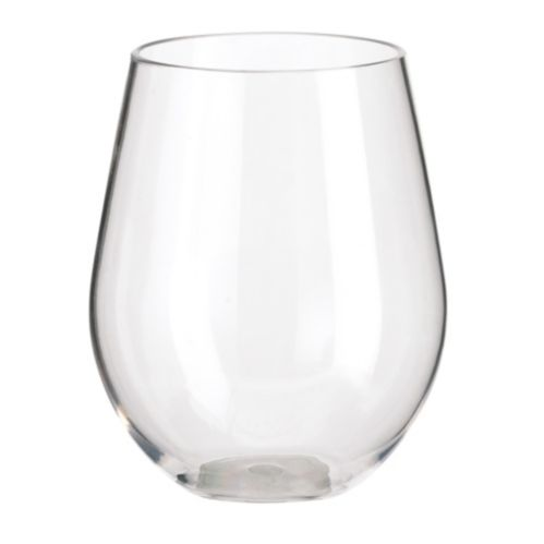 Clear Stemless Glass