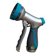 Yardworks Dry Seal 10-Pattern Front-Trigger Watering Nozzle
