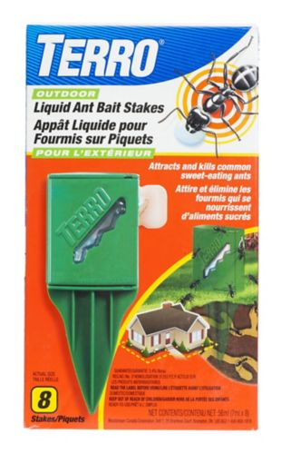 Terro Outdoor Liquid Ant Baits Stakes 8 Pk Canadian Tire