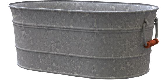 Galvanized Washtub Planter, 16-in Product image