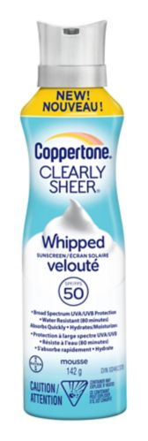 Coppertone SPF 50 Clearly Sheer Whipped Sunscreen