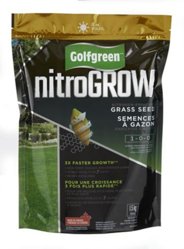 Golfgreen NitroGROW Sun Grass Seed, 1-0-0, 1.5-kg