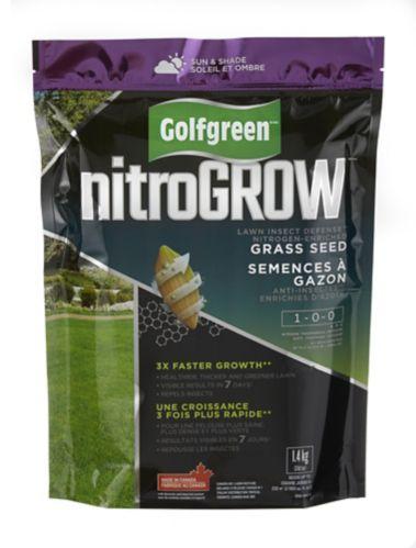 Semence Golfgreen NitroGROW, défense contre les insectes de pelouse, 1-0-0, 1,5 kg Image de l'article