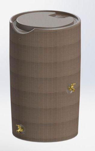 Wicker Style Rain Barrel, 190-L