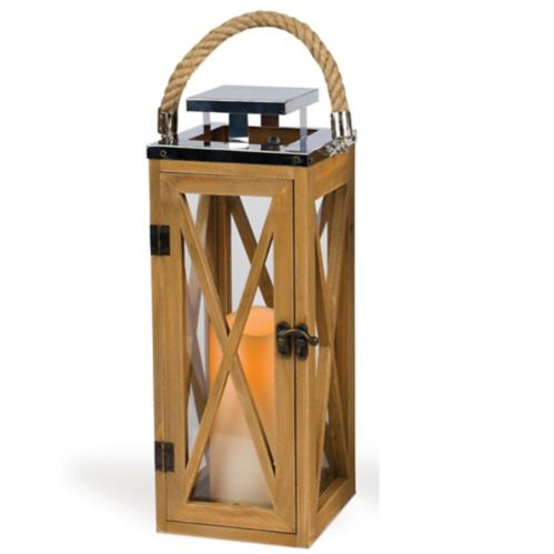 CANVAS Outdoor Wood Lantern with Candle Product image