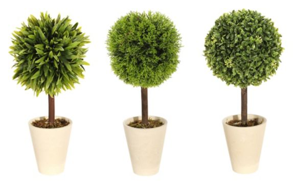 Artificial Topiary Foliage Balls, Assorted, 16-in Product image