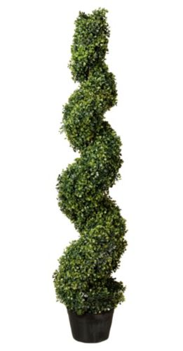 CANVAS Artificial Boxwood Spiral Tree in Pot, 4-ft Product image
