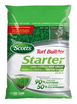 Scotts Turf Builder Starter Lawn Food for New Grass, 320-m2