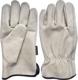 Men's Pigskin Leather Work Gloves | Yardworksnull