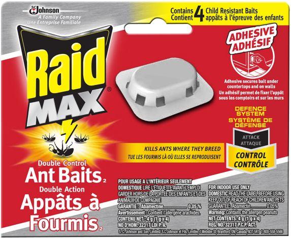 Appâts à fourmis Raid Max, paq. 4 Image de l'article