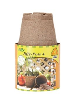 Jiffy Round Peat Pots 4 In 6 Pk