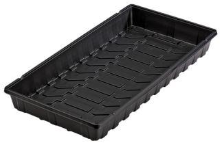 """11/"""" x 22/"""" Jiffy TTRAY Plastic Plant Tray Black"""