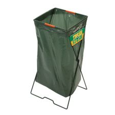 FOLDING STEEL METAL WIRE PLASTIC TRASH BAG HOLDER HOLDING STRETCHER FRAME STAND