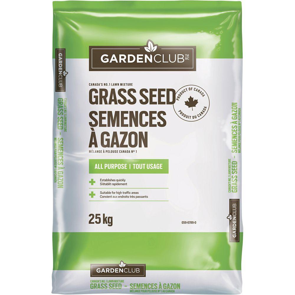 Garden Club All Purpose Grass Seed, 25-kg