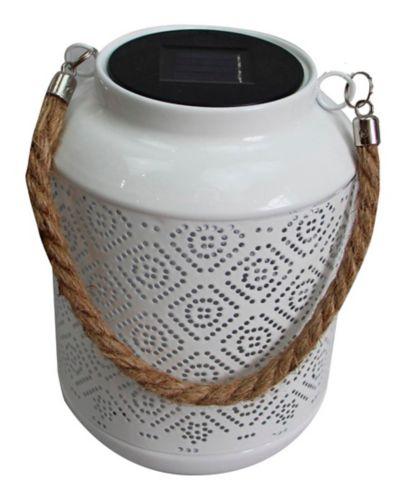 CANVAS Solar Ceramic Metal Lantern