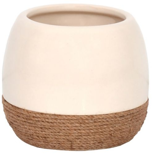 CANVAS Twine Ceramic Planter, 6-in Product image