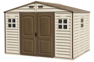 Duramax Woodside Vinyl Shed 10 1 2 Ft