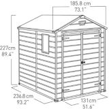 Keter Manor Outdoor Storage Shed, 6-ft x 8-ft   Keter   Canadian Tire