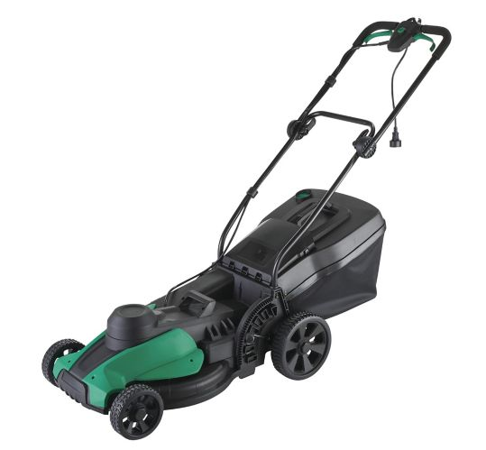 Certified 12A 2-in-1 Electric Push Lawn Mower, 17-in