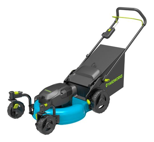 Yardworks 13A 3-in-1 Electric Lawn Mower with Castor Wheels, 20-in