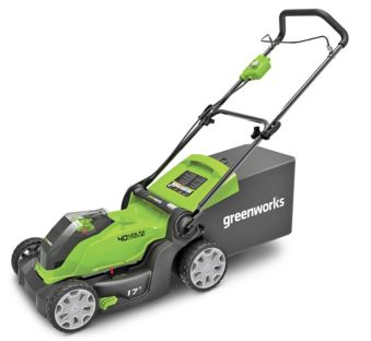 Greenworks 40V 4Ah 2-in-1 Cordless Push Lawn Mower, 17-in