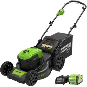 Greenworks 40V DigiPro Lithium Brushless Cordless Lawn Mower, 19-in