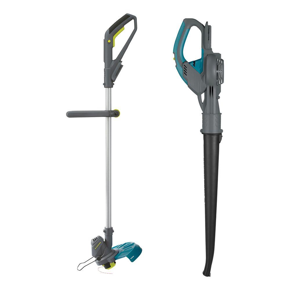 Yardworks 20V Grass Trimmer & Blower/Sweeper Combo Kit