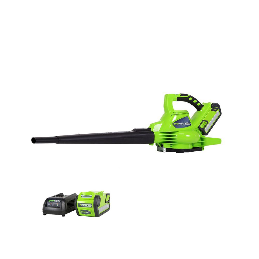 Greenworks 40V LithiumIon Brushless Cordless Leaf Blower Vac