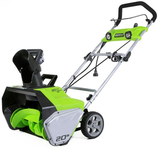 Greenworks13A Electric Snowthrower, 20-in Product image