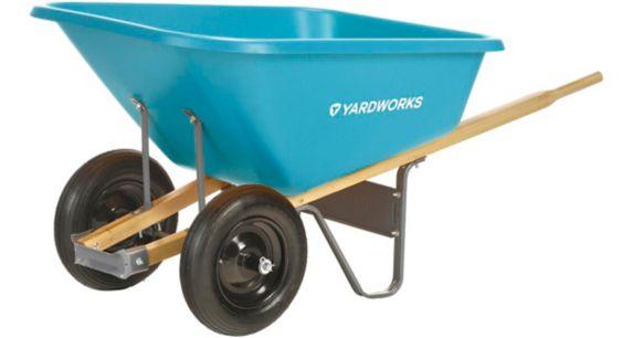 Yardworks Poly Tray Wheelbarrow, 8 cu-ft Product image