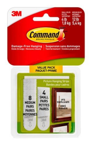 Command Medium Picture Hanging Strips, Assorted