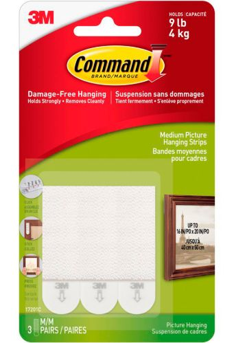 3M Command Medium Picture Hanging Strips, 3-pk Product image