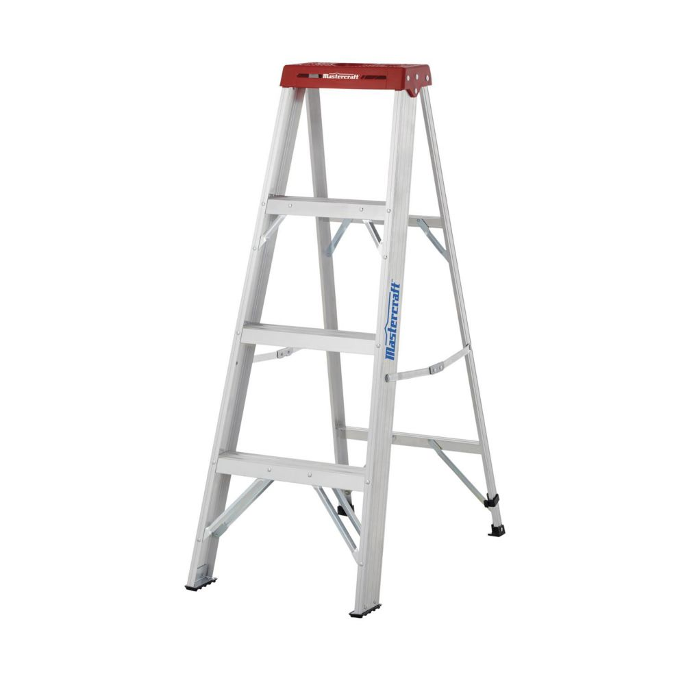 Mastercraft Grade 3 Aluminum Step Ladder, 4-ft
