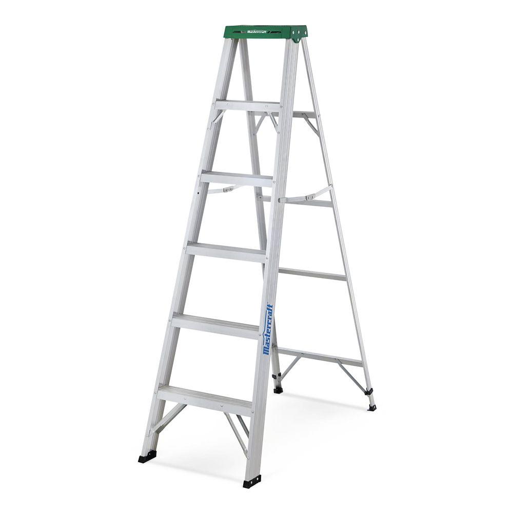 Mastercraft Tradesman Aluminum Grade 2 Step Ladder, 6-ft