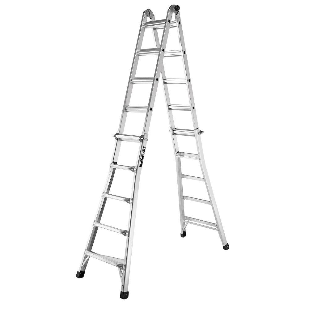Mastercraft Grade 1A Multi-Task Ladder, 21-ft