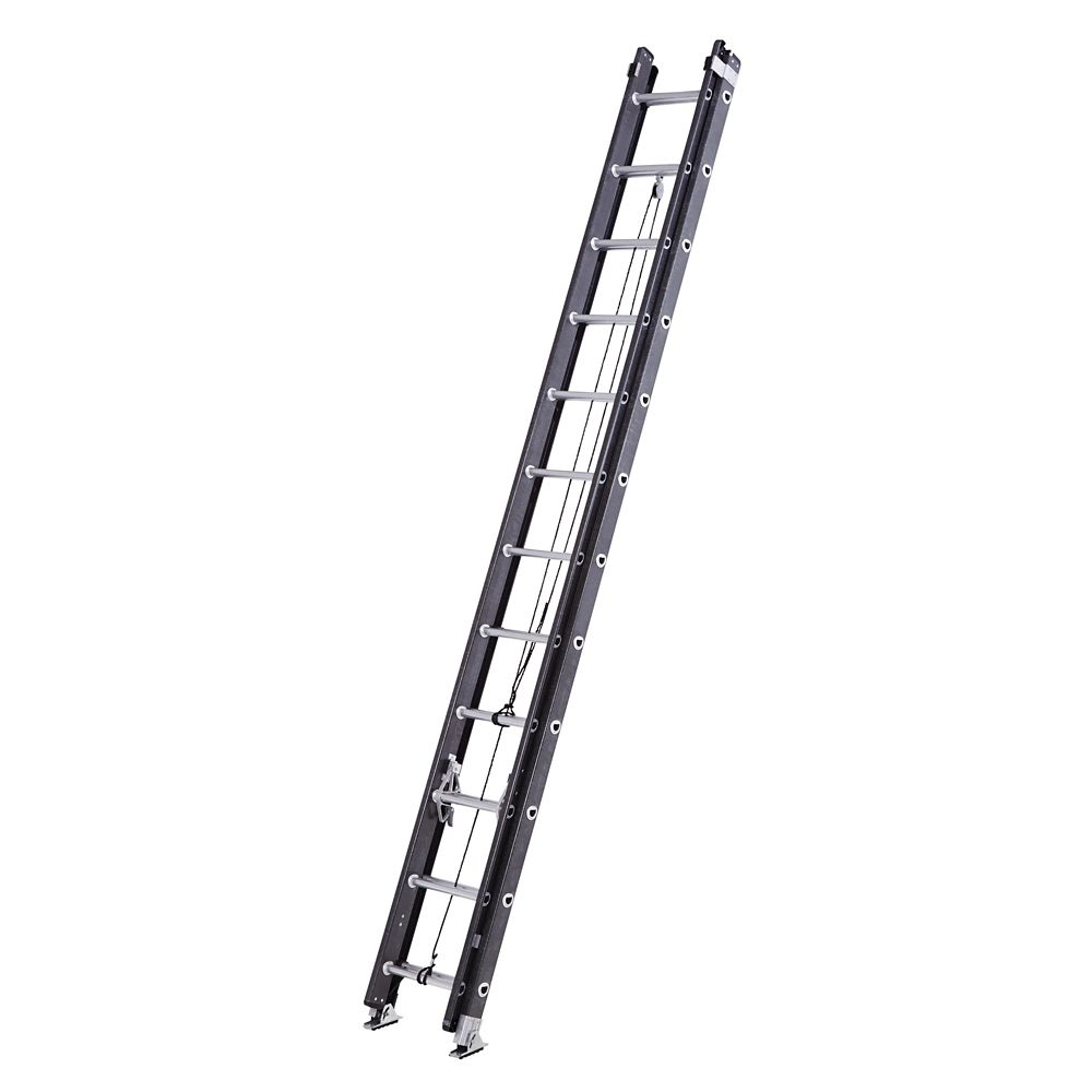 Mastercraft Fiberglass Extension Ladder, Grade 1, 24-ft