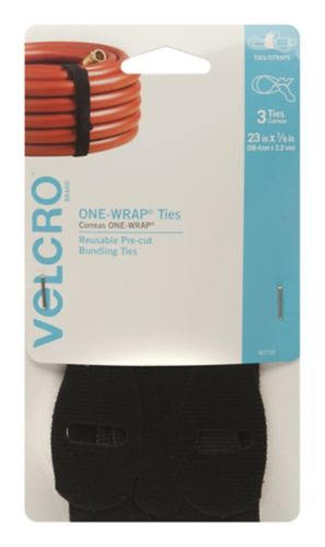 Velcro ONE-WRAP Black Ties, 23 x 7/8-in Product image