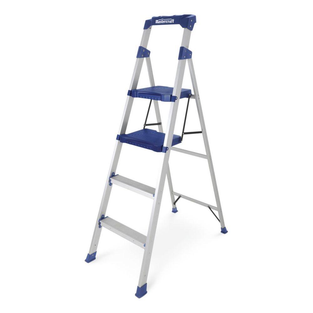 Mastercraft Aluminum Compact Ladder, Grade 1, 5.5-ft